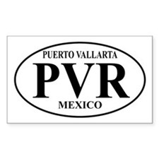 PVR Puerto Vallarta Rectangle Decal