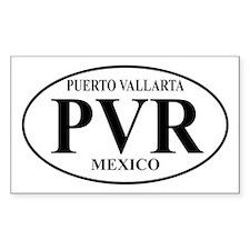 PVR Puerto Vallarta Rectangle Decal