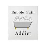 Bubble Bath Addict Throw Blanket