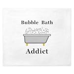 Bubble Bath Addict King Duvet