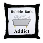 Bubble Bath Addict Throw Pillow
