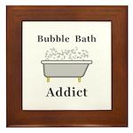 Bubble Bath Addict Framed Tile