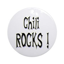 Chili Rocks ! Ornament (Round)