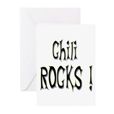 Chili Rocks ! Greeting Cards (Pk of 10)
