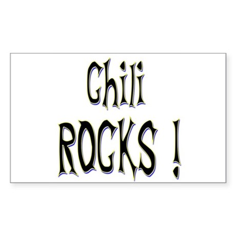 Chili Rocks ! Rectangle Sticker