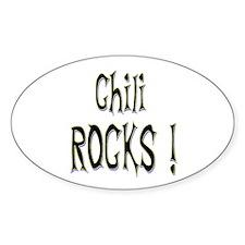 Chili Rocks ! Oval Decal