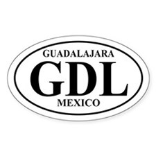 GDL Guadalajara Oval Decal