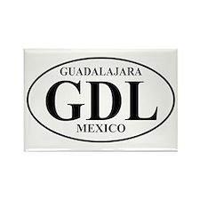GDL Guadalajara Rectangle Magnet