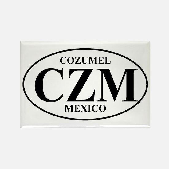 CZM Cozumel Rectangle Magnet