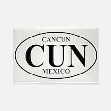 CUN Cancun Rectangle Magnet