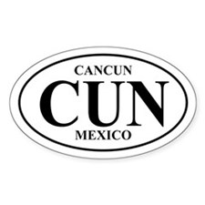 CUN Cancun Oval Decal