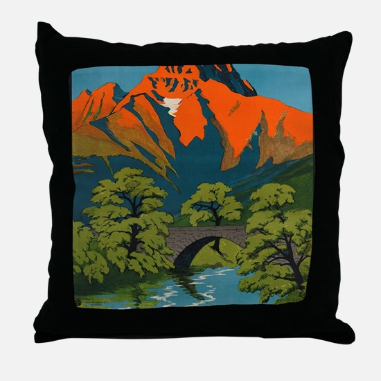 Funny Schweiz Throw Pillow
