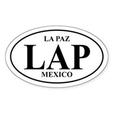 LAP La Paz Oval Decal