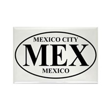 MEX Mexico City Rectangle Magnet