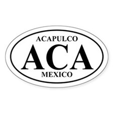 ACA Acapulco Oval Decal