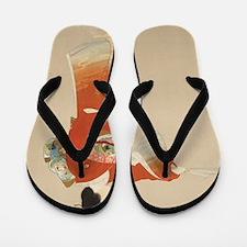 Cute Japanese geisha Flip Flops