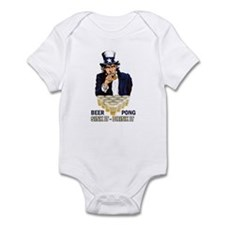 Beer pong abe Infant Bodysuit