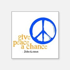 Give Peace a Chance - Blue & Orange Sticker