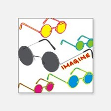 Imagine Glasses Colors Rectangle Sticker