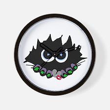 Halloween Monster Inside Wall Clock