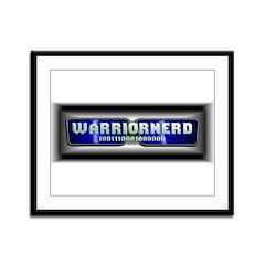 Warriornerd (blue) Framed Panel Print