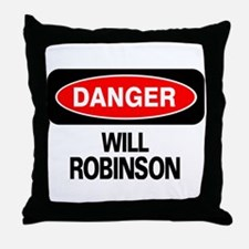 Danger Will Robinson Throw Pillow