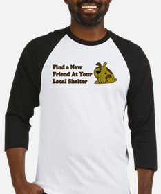 Find a New Friend - Brown Dog Baseball Jersey
