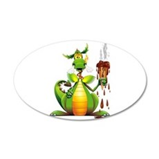 Fun Dragon with Ice Cream Wall Sticker