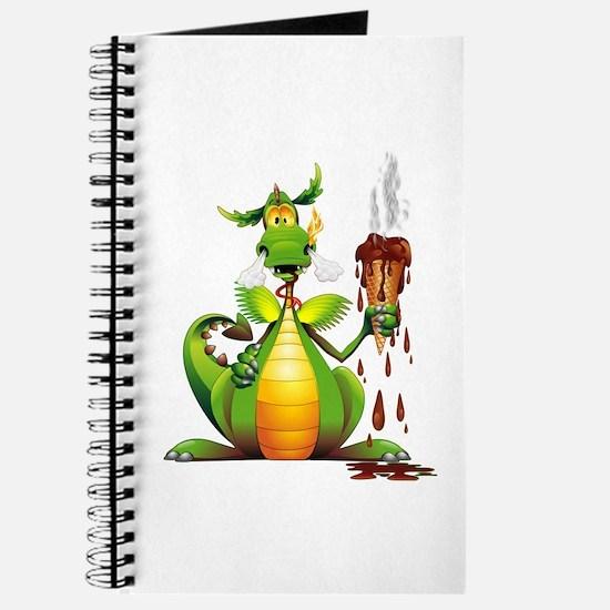 Fun Dragon with Ice Cream Journal