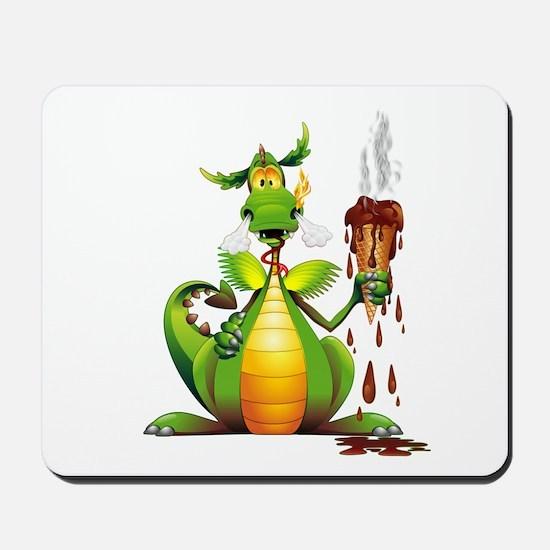 Fun Dragon with Ice Cream Mousepad