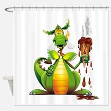 Fun Dragon with Ice Cream Shower Curtain