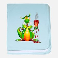 Fun Dragon with Ice Cream baby blanket