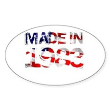 Made In USA 1983 Oval Decal