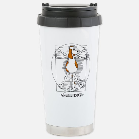 Vitruvian Dog Travel Mug