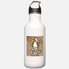 Vitruvian Dog Water Bottle