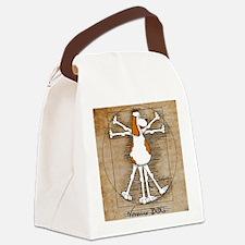 Vitruvian Dog Canvas Lunch Bag