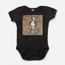 Vitruvian Dog Baby Bodysuit