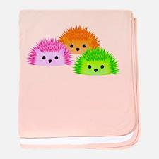Funny Hedgehogs baby blanket