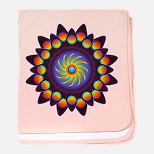 Abstract Colorful Mandala baby blanket