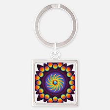 Abstract Colorful Mandala Keychains