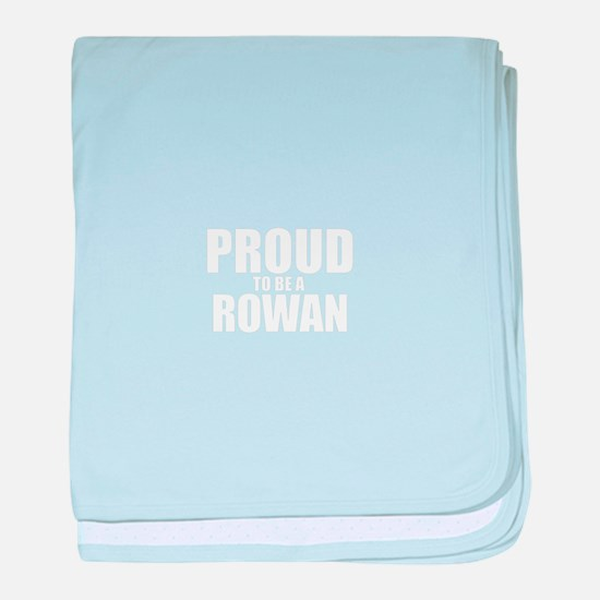 Proud to be ROWAN baby blanket