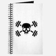 Crossed barbells skull Journal