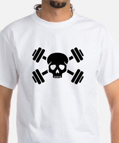 Crossed barbells skull Shirt