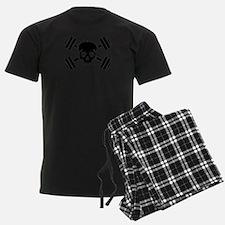 Crossed barbells skull Pajamas