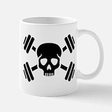 Crossed barbells skull Mug