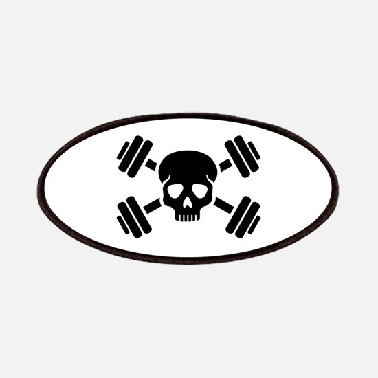 Crossed barbells skull Patch