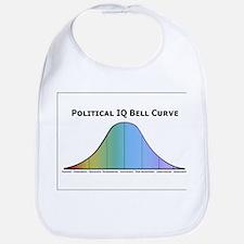 Political IQ Bell Curve Bib
