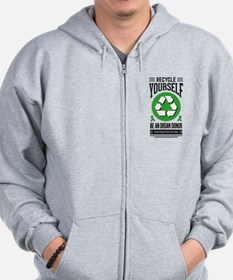 Recycle Yourself Be an Organ Donor Zip Hoodie