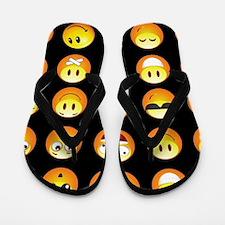 black emojis Flip Flops