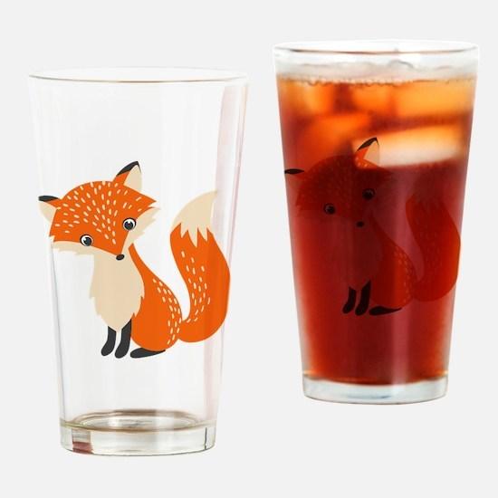 Cute Cute fox Drinking Glass